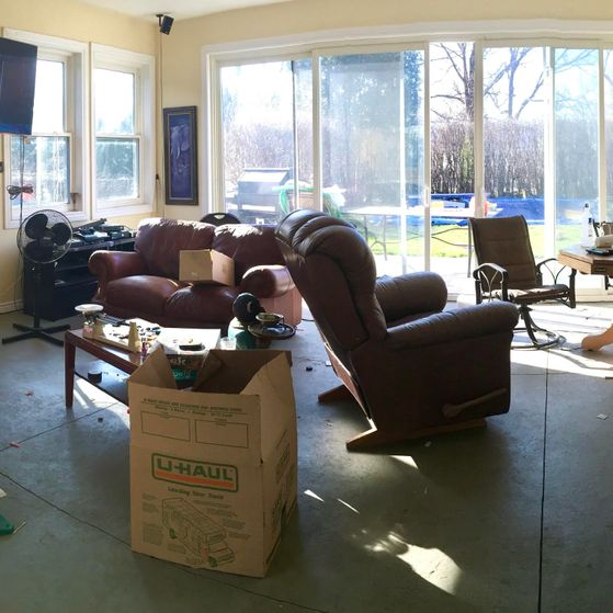 Living room before organizing